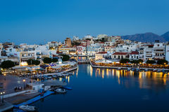 Cityscape of Agios Nikolaos, Greece Stock Photo