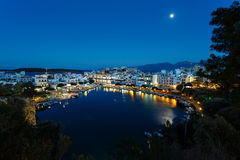 Cityscape of Agios Nikolaos, Greece Royalty Free Stock Image