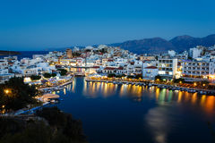 Cityscape of Agios Nikolaos, Greece Royalty Free Stock Photo
