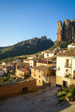 Cityscape at Aguero, Aragon, Spain Royalty Free Stock Image