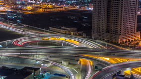 Cityscape of Ajman from rooftop at night timelapse. Ajman is the capital of the emirate of Ajman in the United Arab stock video
