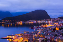 Cityscape of Alesund - Norway stock images