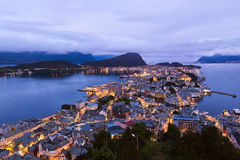 Cityscape of Alesund - Norway Royalty Free Stock Photo