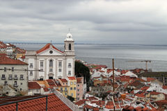 Cityscape of Alfama Lisbon, Portugal buildings Stock Image