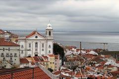 Cityscape of Alfama Lisbon, Portugal buildings Stock Image
