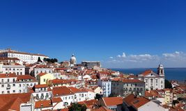 Cityscape of Alfama, Lisbon royalty free stock photo