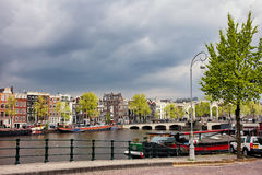 Cityscape of Amsterdam in the Netherlands Stock Image