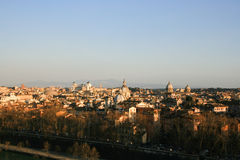 Cityscape of the ancient part of Rome Stock Photo