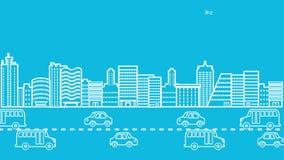 Cityscape animation stock video