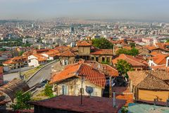 Cityscape of Ankara, Turkey Royalty Free Stock Images