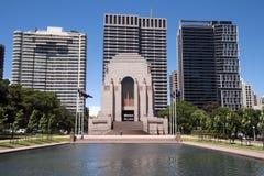 Cityscape of Anzac Memorial stock photos