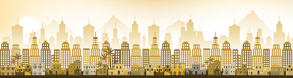 Cityscape Arabia (morning scenery) Royalty Free Stock Photography