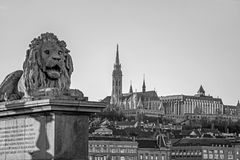 Cityscape of architectures in Budapest. Cityscape of old buildings in Budapest stock photo