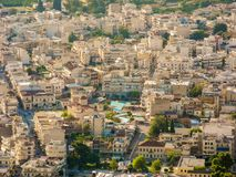 The Argos cityscape. Cityscape of Argos in summer, Peloponnese, Greece Royalty Free Stock Photo