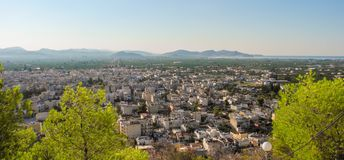 The Argos cityscape. Cityscape of Argos in summer, Peloponnese, Greece Stock Image