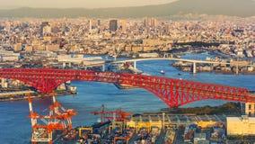 Cityscape Around Osaka Bay stock photos