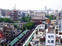 Cityscape around Senso-ji Temple in Japan Stock Photography