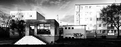 Cityscape Artistiek kijk in zwart-wit Stock Foto's