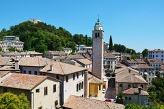 Cityscape in Asolo, Italy Stock Images
