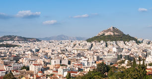 Cityscape of Athens. The capital city of Greece, from the Acropolis Hill Royalty Free Stock Photography