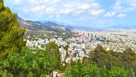 Cityscape of Athens Greece Royalty Free Stock Photography