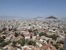 Cityscape of Athens Greece. A cityscape of athens in greece, showing the widespread urban areas Stock Photo