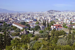 Cityscape of Athens Greece Stock Image