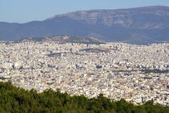 Cityscape: Athens - Greece. Overview of the east side of Athens, in Greece Royalty Free Stock Photography