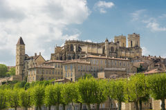 Cityscape of Auch, capital of Gascony Royalty Free Stock Photos