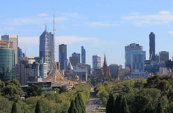 Cityscape Australië van Melbourne Royalty-vrije Stock Foto's
