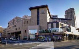 Cityscape av Akita, Japan Royaltyfria Bilder