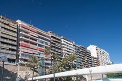 Cityscape av Alicante Royaltyfria Bilder