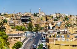 Cityscape av Amman, Jordanien Arkivfoto