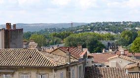 Cityscape av Avignon i Frankrike arkivfilmer