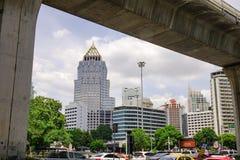 Cityscape av Bangkok, Thailand Arkivbild