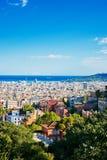 Cityscape av Barcelona. Spanien. Arkivfoto