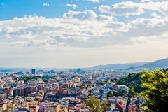 Cityscape av Barcelona. Spanien. Arkivbild