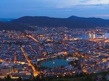 Cityscape av Bergen - Norge arkivbilder