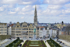 Cityscape av brussels Arkivbild