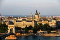 Cityscape av Budapest, Ungern Arkivbild