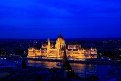 Cityscape av Budapest, Ungern Arkivfoto