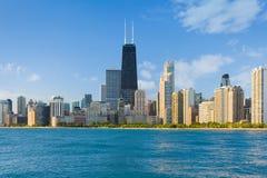 Cityscape av Chicago arkivfoton