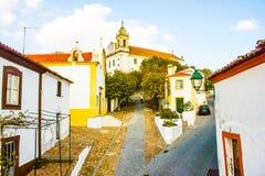 Cityscape av Constancia Portugal Arkivfoton