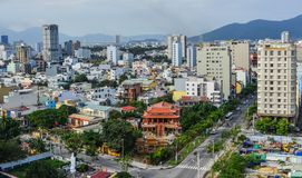 Cityscape av Da-nang, Vietnam royaltyfria foton