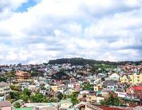 Cityscape av Dalat arkivbilder