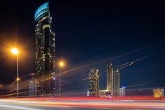 Cityscape av den Bangkok staden och skyskrapabyggnader av Thailand , Panoramalandskap av affären och finansiell mitt av Thailand royaltyfria bilder