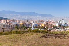 Cityscape av den Izmir staden, Turkiet Modern del Royaltyfri Bild