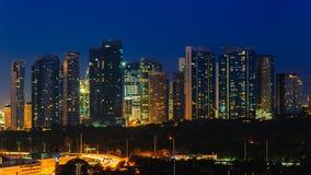 Cityscape av den manila staden, philippines Arkivbilder