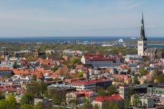 Cityscape av den Tallinn staden Royaltyfria Foton