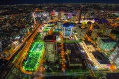 Cityscape av den Yokohama staden Fotografering för Bildbyråer